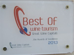 Best of Wine Tourism 2013 Award