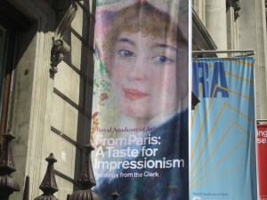 An example of exhibitions at the RA - Royal Academy of Arts, London