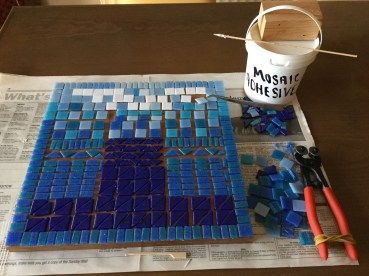 Work in progress - learning mosaic making