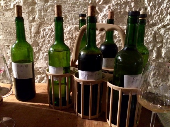 Samples of 2018 new wines from Château Grinou