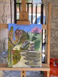 Filling the canvas en plein air!