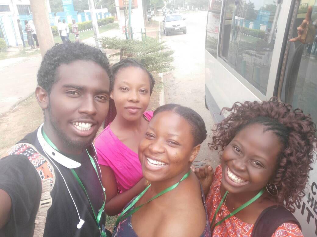 IFMSA Trainer Selfie L-R: Motaz (Sudan), Kemi (MediLag), ETP, Toyosi Afolabi (IFMSA SCORA RA Africa)