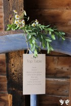 Rustic Table Plan, top table- Elizabeth Weddings