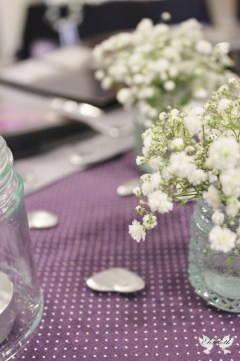 Bespoke polka dot table runner- Elizabeth Weddings
