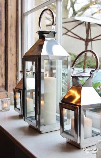 Silver lanterns at No4- Elizabeth Weddings