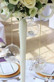Hanging tea lights- Elizabeth Weddings