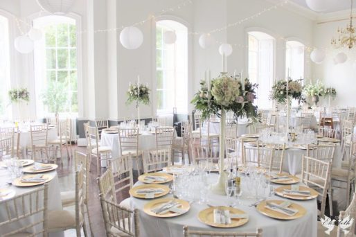 Candelabras, fairy lights and lanterns at KWH- Elizabeth Weddings