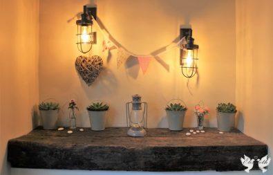Racks entrance styling- Elizabeth Weddings