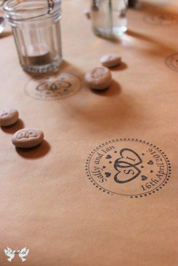 Stamped Table Tunner- Elizabeth Weddings