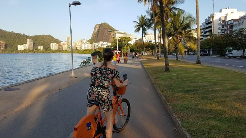 Pedalando pela lagoa. Rio de Janeiro