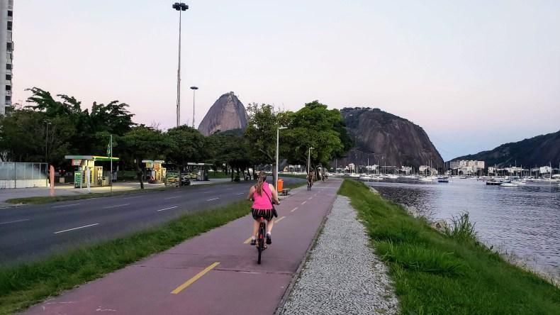 Enseada de Botafogo, parte do Aterro do Flamengo. Rio de Janeiro