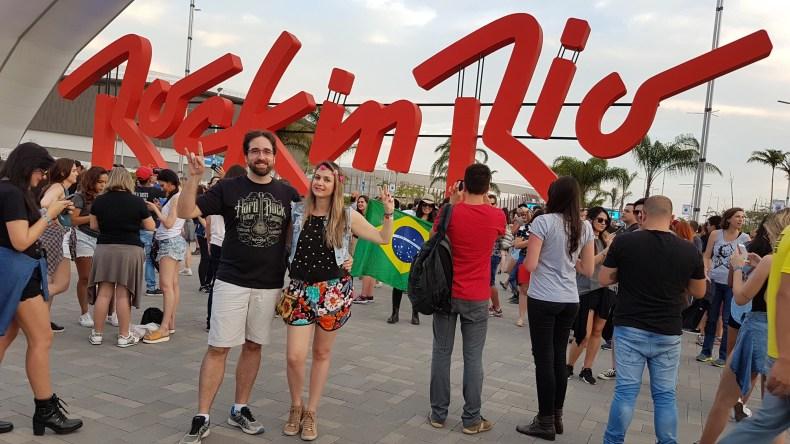 Curtindo um Rock in Rio no primeiro trimestre de gravidez, mas fazendo segredo. Babymoon