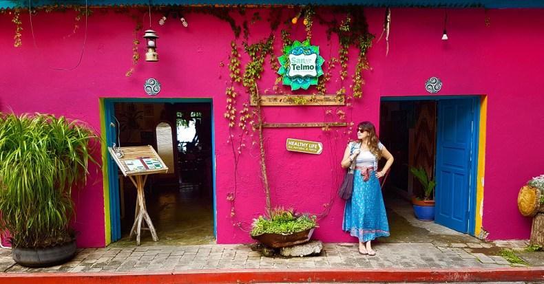 Não é ensaio profissional mas a foto ficou maravilhosa. Flores, Guatemala. Segundo trimestre de gravidez . Babymoon