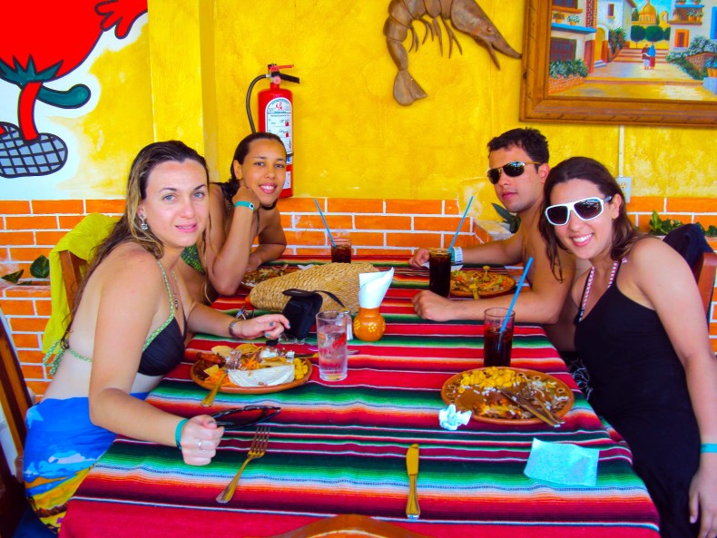 Almoço em Cozumel, ilha da riviera Maya