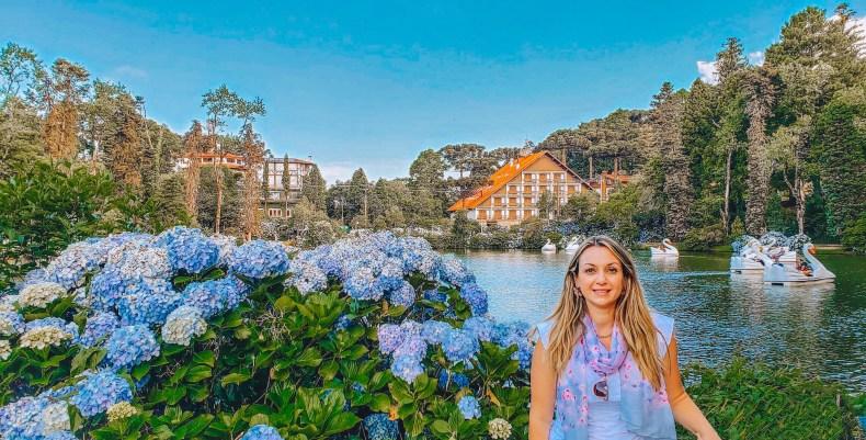 Parava em cada flor pra tirar foto, lago negro, Gramado