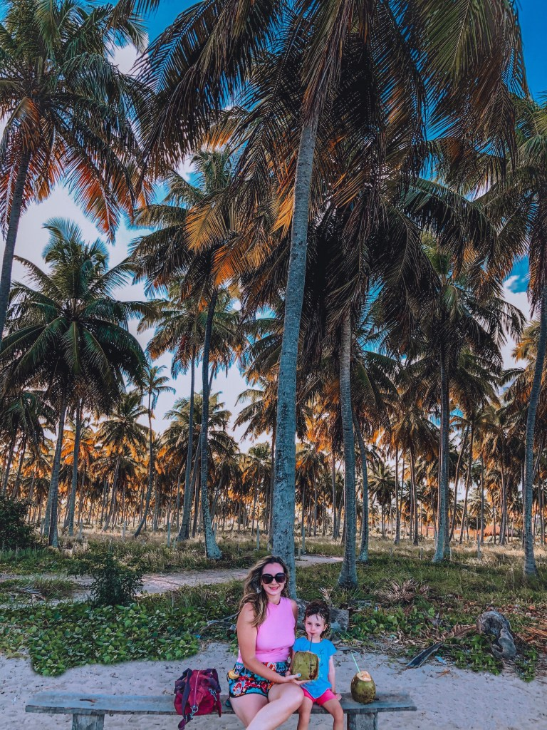 água de coco na praia do patacho