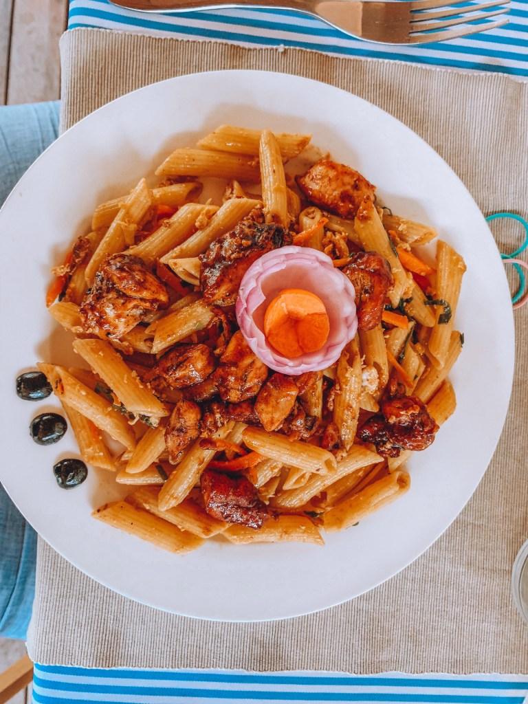 Existe gastronomia internacional nas Maldivas. Foto: Raquel Hoffman