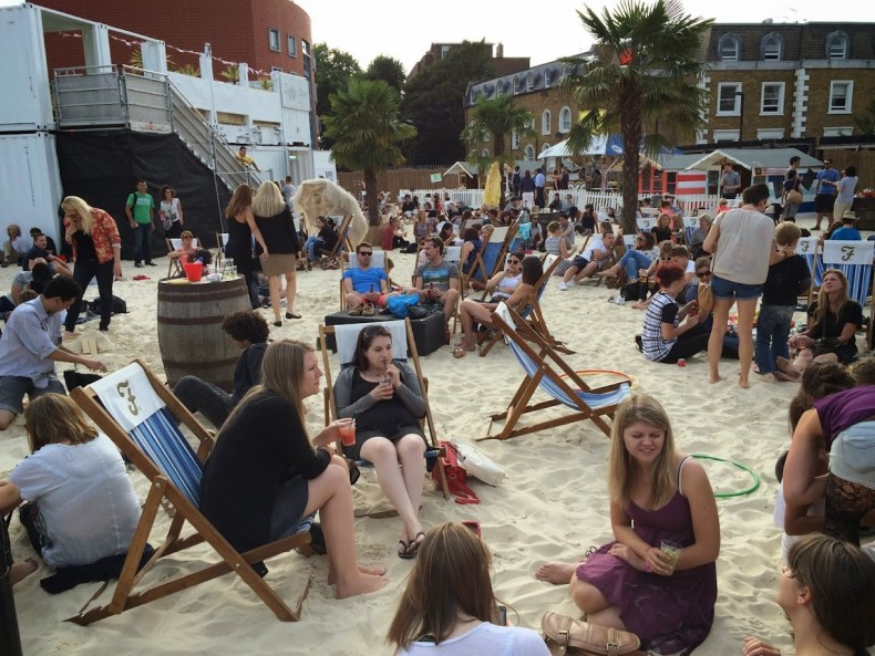 Verão com clima de praia em Londres