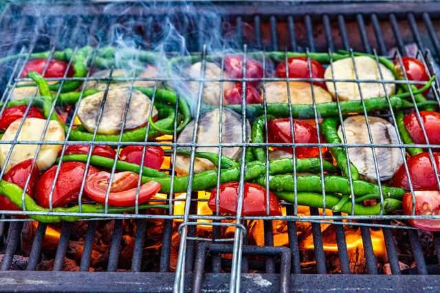 Can BBQ be healthy? Vegetarian or BBQ fish is a good choice for Sizzling Summer Socials.
