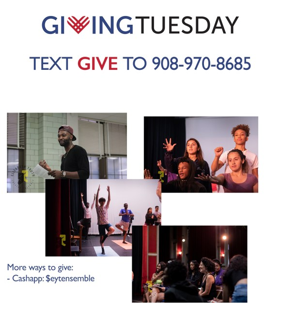 Giving Tuesday Image of Mentors and Youth In Theater