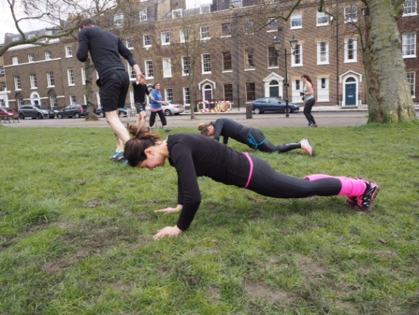 Eliza Flynn WARIORRR bootcamp - healthy living in London
