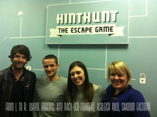 Wayne Roberts, AttiNagy, Ashleigh Auld, Shannon Eastman at HintHunt