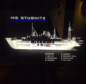 Map of the MS Stubnitz