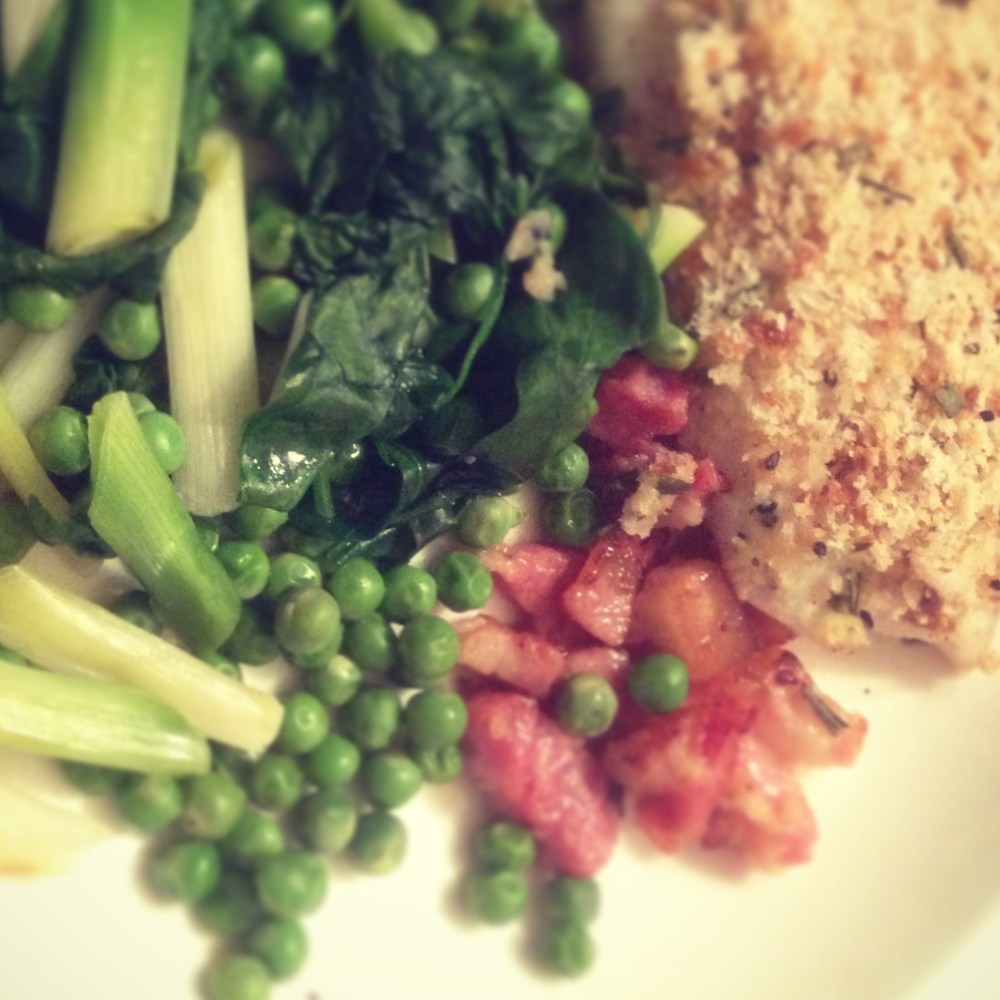 Recipe: Healthy Baked Haddock with Bacon & Greens