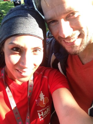 Eliza Flynn & Tom Gash at the Royal Parks Half Marathon 2013