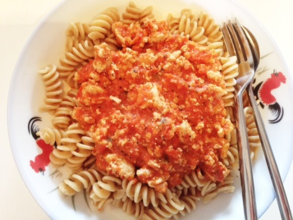 Red Pepper Tomato Sauce for Pasta