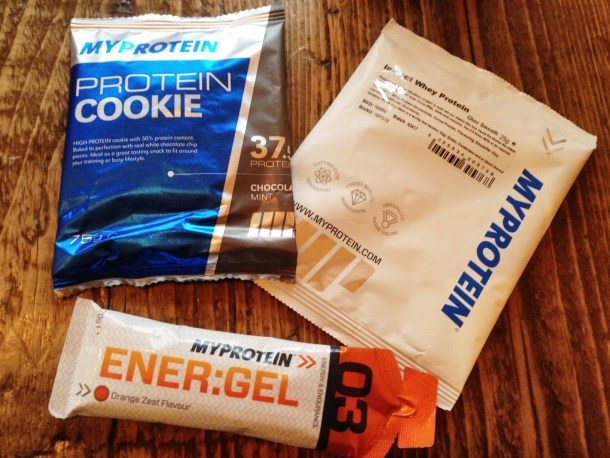 MyProtein Review - cookie, shake, energy gel
