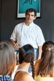 Provamel three course meal with Bruno Loubet