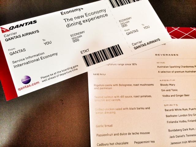 Qantas' New Economy Dining