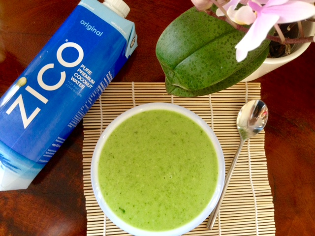Chilled Green Soup with ZICO Coconut Water