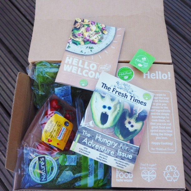 HelloFresh review - Veggie box