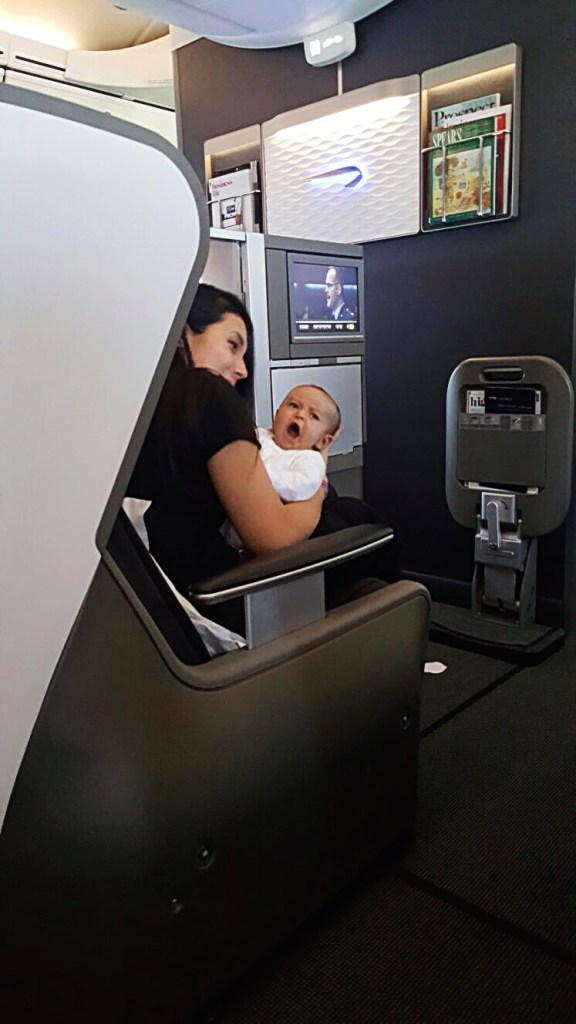first long haul flight with a newborn