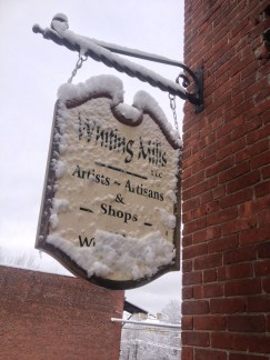 A snowy day at Whiting Mills