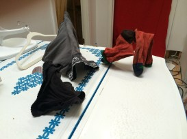 Pantimals! When your panties and other undergarments freeze and can hold rigid, animal-like shapes!