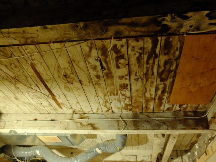 Our really old barn wood ceiling! [After]