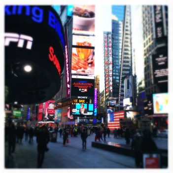 With the Tourists @ Times Square.
