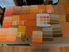 Down to business with the paint color. Orange or brown or orangey brown?!