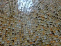 Awesome glass tile floor!