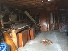 4 days later --> maybe 2/5 of that huge pile remains (and a nice pile of dust).