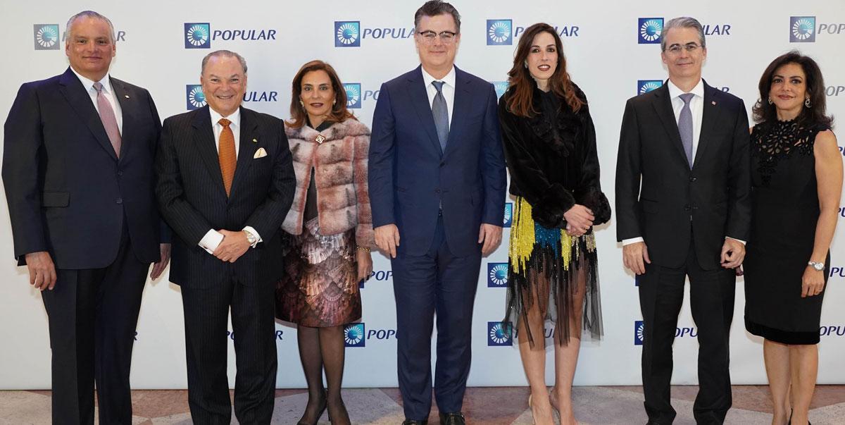De izquierda a derecha, los señores Luis Espínola, Frank Rainieri, Haydée Kuret de Rainieri, Manuel Díez Cabral, Silvia Argüello, René Grullón y Elima González de Grullón.