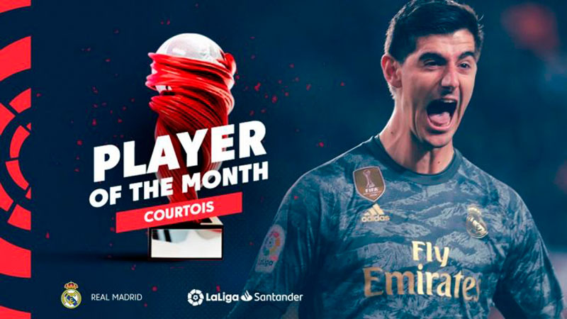 Thibaut Courtois named January Player of the Month in LaLiga Santander