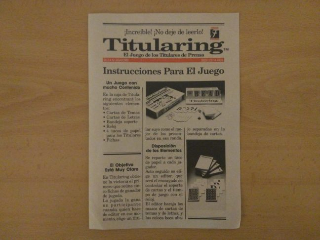 Instrucciones Titularing