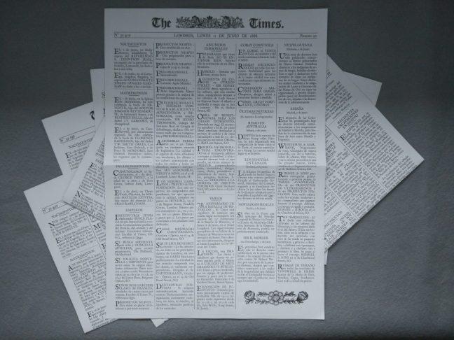 Periódicos Sherlock Holmes Detective Asesor