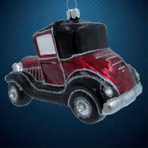 Стеклянная елочная игрушка Машина ретро 2