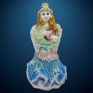 Елочная игрушка Ангел с арфой Irena Co