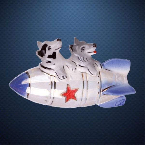 Фарфоровая елочная игрушка из серии КОСМОС Фарфоровая Мануфактура БЕЛКА И СТРЕЛКА